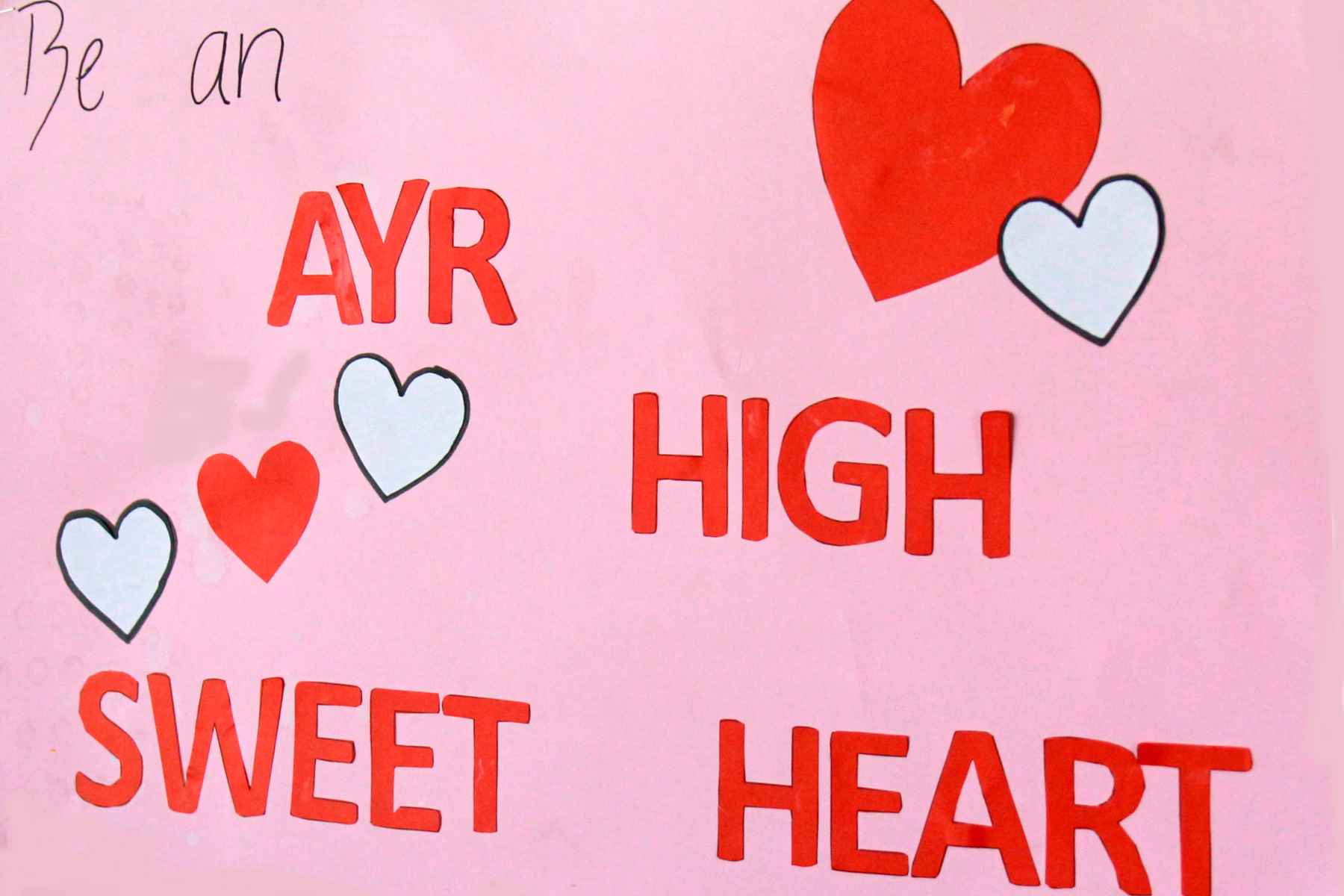 Ayr High Shows Its Heart!